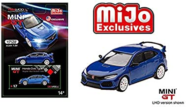 Mini GT New DIECAST Toys CAR 1:64 2017 Civic Type R (FK8) MODULO (LHD)(Aegean Blue) - MIJO Exclusives MGT00017-MJ