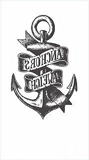 Tijdelijke Tatoeages 3 Vellen Tijdelijke Tattoo Sticker Engels Letters Schedel Anker Body Art Tattoo Arm Voet Borst Hals S...