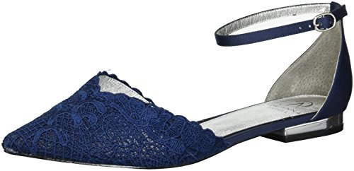Adrianna Papell Women's TRALA Mary Jane Flat, Navy attalie lace, 6 M US