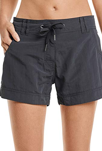 Marc O'Polo Body & Beach Damen Marc O´Polo Beach-Shorts Badeshorts, Schwarz (Blauschwarz 001), 38 (Herstellergröße: M)