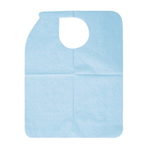 BSA 両面テープ付ディスポーザブルエプロンフローラプラス ブルー 100枚入 1箱