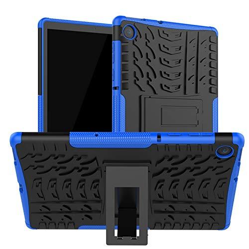 DWaybox Estuche para Tableta para Lenovo M10 Plus 10.3 Pulgadas 2020 Lanzamiento Armor Heavy Duty Combo TPU Soft + PC Hard 2in1 Funda Protectora de Doble Capa con Soporte -Azul