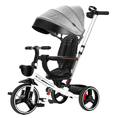 Jixi kinderdriewieler inklapbaar lichtgewicht kinderfiets hoeft niet te worden geïnstalleerd bekerhouder verstelbare kinderwagen