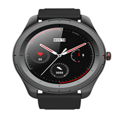 LOVOUO Reloj Inteligente Deportivo de círculo Completo de 1.3 (Seguimiento de Actividad física a Prueba de Agua IP68 con Monitor de frecuencia cardíaca, podómetro de monitoreo del sueño)