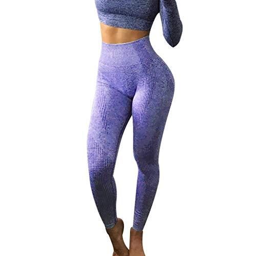 OYSOHE Damen Seamless Leggings Sporthose Fitnesshose Joggingshose Yogahose Tight Sport Leggins(ZA-Dunkelblau,S)