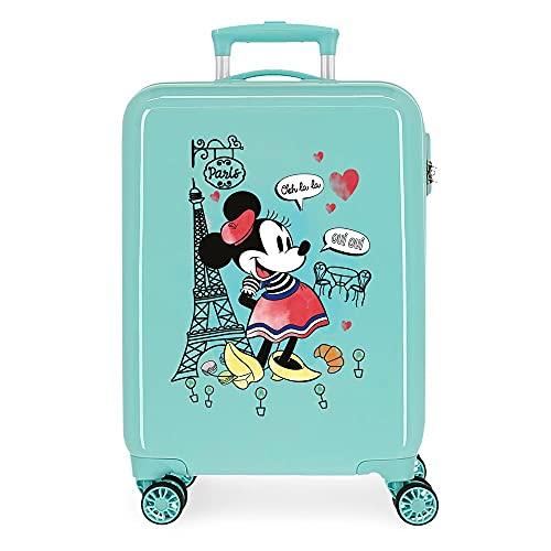 Disney Minnie Around The World Maleta de Cabina Azul 38x55x20 cms Rígida ABS Cierre de combinación Lateral 34 2 kgs 4 Ruedas Dobles Equipaje de Mano