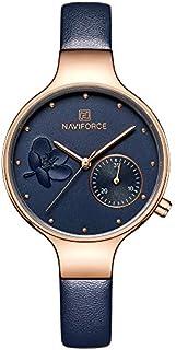 Women's Waterproof Leather Quartz Wrist Watch