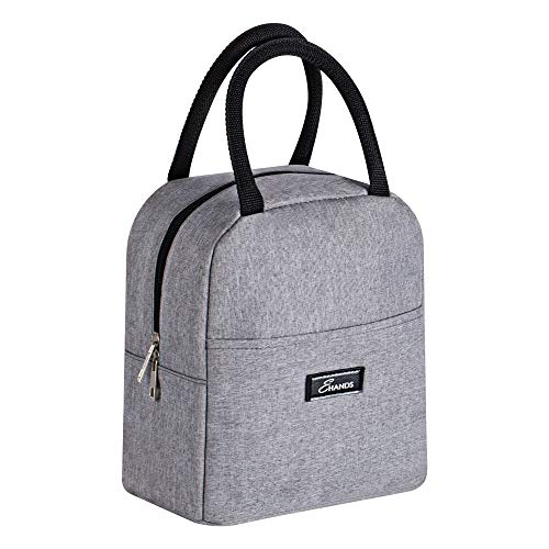Lunch Bags for Women - EHANDS Insulated Thermal Lunch Bag for Lunch Box and Container, Small Lunch Box Large Capacity for Adult Women, Men, Work, Office, Travel, Picnic, College