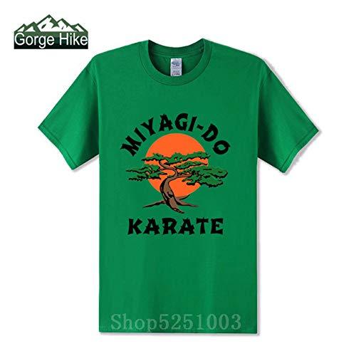 2019 Nuovo Arrivo Shirt T Karate Kid Miyagi-Do Drago Reseda Los Angeles degli Uomini di Bonsai Cobra Kai Fashion Casual Tee Kung Fu Master: Verde, L