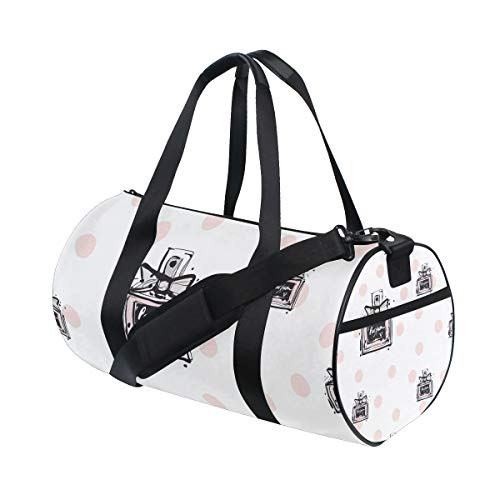 FANTAZIO Gym Duffel Tas Mode Parfums Dots Patroon Heren Gym Duffel Tas