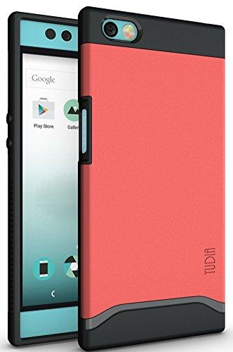 TUDIA Nextbit Robin Hülle, Slim-Fit Merge Dual Layer Schutzhülle für Nextbit Robin (Rose)