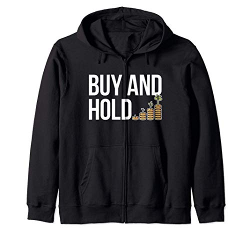Buy&Hold Investor Börse Aktien Klein-Anleger Aktionär Finanz Kapuzenjacke