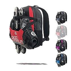 CADOMOTUS Urban Flow Gear Bag | 15L Wettkampf Sport Rucksack für Kinder | Ultraleichte Sporttasche zum Skaten, Eislaufen und Radfahren | 6 Fächer | Starkes Nylon | 40x30x10 cm