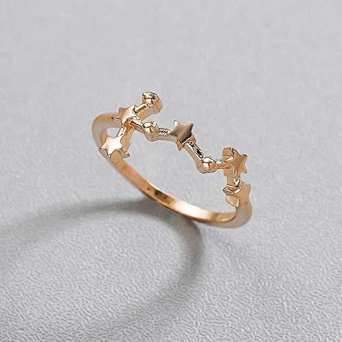 DGSDFGAH Ring For Women Scorpio Constellation Ring Finger Ring Scorpio Twelve Constellation Women'S Zodiac Constellation Girl Wedding Jewelry Jewelry