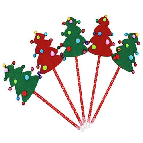 Homnive, penna a sfera a forma di albero di Natale, 3 pezzi, penna di Natale, simpatico Babbo Natale, pupazzo di neve, forniture per la scuola per bambini(schema casuale)