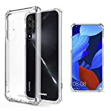 Moozy Coque Silicone Transparente pour Huawei Nova 5T et Honor 20 - Anti Choc Crystal Clear Case...