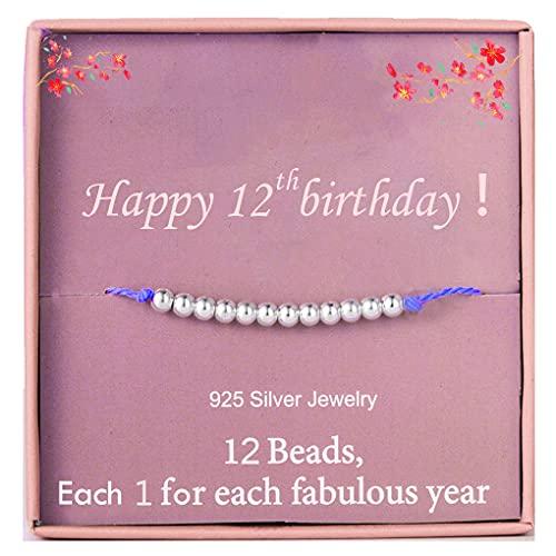 Bracelet pour fille de 12 ans en argent sterling avec perles pour 12 ans