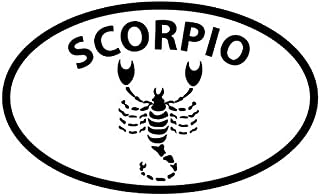 Scorpio Horoscope - Sticker Graphic - Auto, Wall, Laptop, Cell, Truck Sticker for Windows, Cars, Trucks
