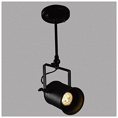 Focos De Techo LED Portalámparas Retro Negro, Lámpara De Techo LED Con 1 LED 2 LED 3 LED 4 LED Focos, Plafón Ajustables Y Giratorios Para Cocina, Dormitorios, Salón(Sin Fuente De Luz(Size:Single head)