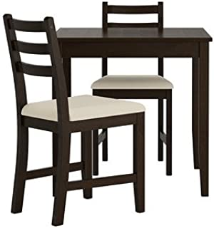 Ikea Table and 2 chairs, black-brown, Vittaryd beige 14202.2238.210