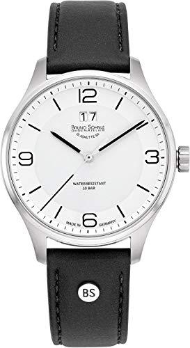Bruno Söhnle Herren Analog Quarz Uhr mit Leder-Kalbsleder Armband 17-13199-961