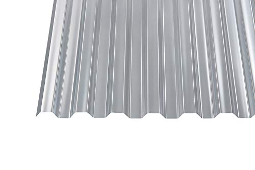 Polycarbonat Wellplatten Profilplatten Trapez 76/18 klar ohne Struktur (3000 x 1040 mm)