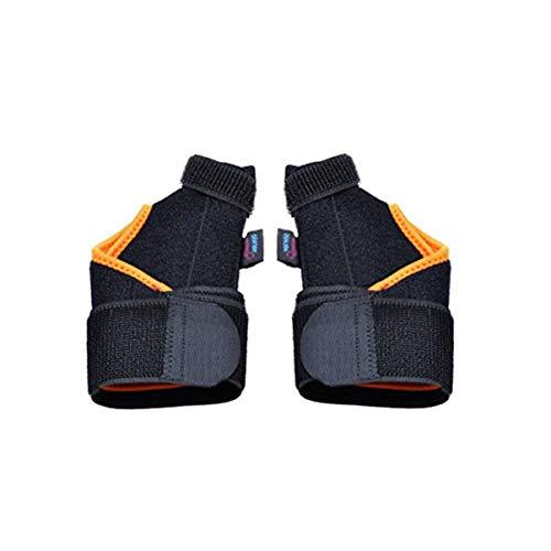 DOITOOL Apoyo para el pulgar Spica férula muñeca apoyo estabilizador de mano inmovilizador para artritis tendinitis hombres mujeres alivio del dolor gatillo dedo derecho mano izquierda negro naranja