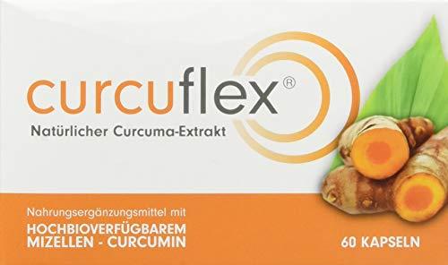 Curcuflex Curcuma-Extrakt Weichkapseln mit hochbioverfügbarem Mizellen-Curcumin, 60 Kapseln