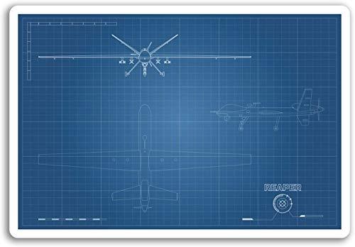 Lplpol Vinyl-Aufkleber mit Sensenmann-Drohnen-Motiv, für Herren, cooler Aufkleber für Laptop, #18077, Graffiti-Stoßstangenaufkleber für Teenager, Mädchen, Frauen, Vinyl-Aufkleber – 10,2 cm (4 Zoll)