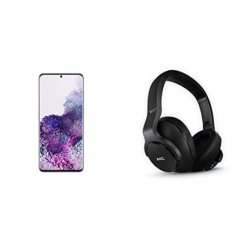 Samsung Galaxy S20+ Plus 5G Factory Unlocked New Android Cell Phone US Version, 128GB, Cosmic Gray & N700NC M2 Over-Ear Foldable Wireless Headphones, Black
