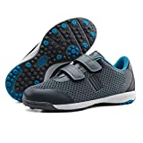 brooman Kids Knit Indoor Soccer Shoes Boys Girls Athletic Football Shoes (11.5,Grey)