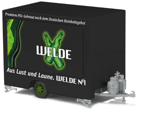 Busch Voitures - BUV44941 - Modélisme Ferroviaire - Remorque Iveco Daily - Vente de Bière Welde