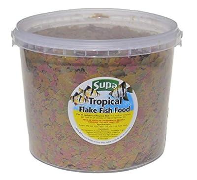 Supa Aquarium Tropical Fish Flake Food, 3 Litre Bucket, Premium Quality Nutritious Fish Food, Complete Balanced Diet