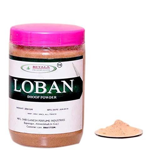 Divine Products India Fragrance LOBAN SAMBRANI DHOOP Powder with DHOOP Burner Plate Use This DHUP Powder FOR PUJA, Fragrance OR HAWAN SAMGARI (LOBAN (Myrrh))