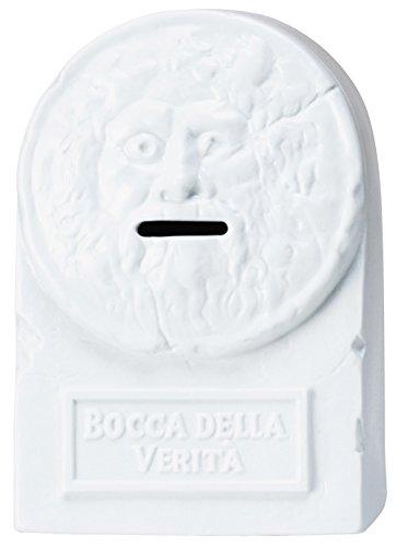 サンアート おもしろ雑貨 「 ソレっぽくない ヘソクリ金庫 」 真実の口 貯金箱 高さ16.5cm ホワイト SAN2012