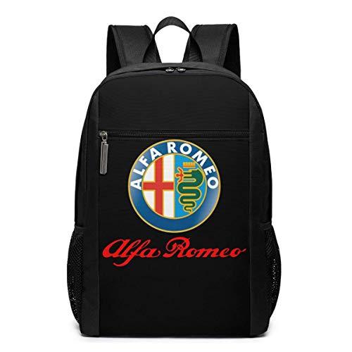 BAOQIN Syins Alfa Romeo Logo Mochilas escolares, 17 pulgadas bolsa al aire...