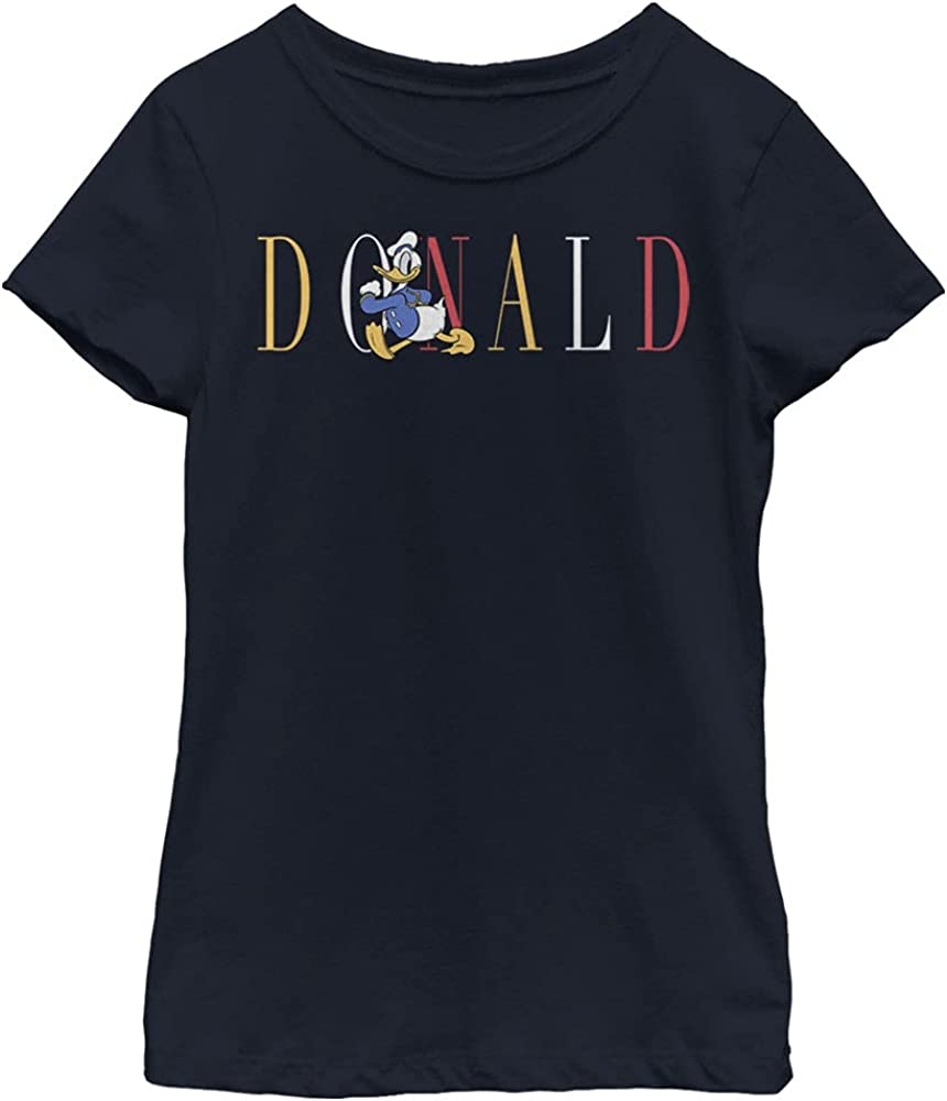 Disney Characters Duck Fashion Girl's Solid Crew Tee