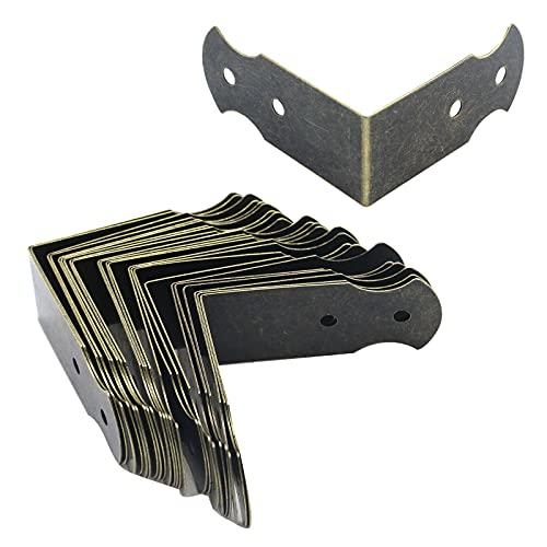 Antrader Corner Protector Metal L Shaped Decorative Furniture Case Box Cover Corner Guards Pack of 24