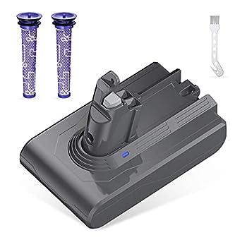 21.6V 3500mAh V6 Replacement Battery Compatible for V6 SV04 SV03 DC58 DC59 DC61 DC62 Animal DC72 Series Handheld Vacuum