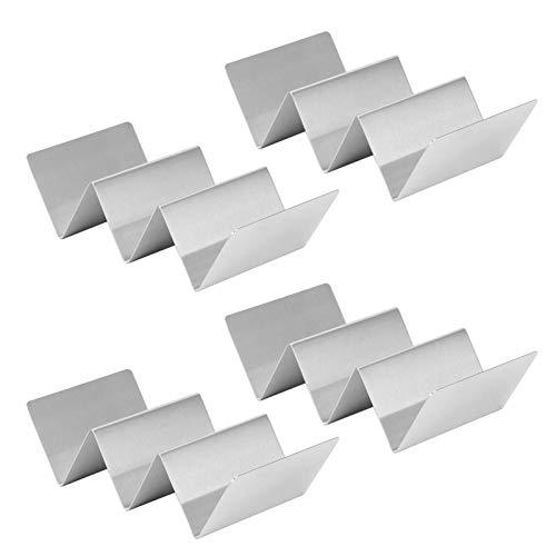 Rastrelliere per taco da 4 pezzi, porta taco in acciaio inossidabile con supporto per frittelle, utensile da cucina per sala da pranzo del ristorante