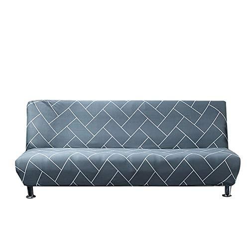 Yi-xir klassiek ontwerp Armless Sofa Slipcover Extend Sofa Protector Cover Elastische Spandex Moderne elementaire opvouwbare bank Sofa Shield Futon Cover Perfect en comfortabel