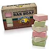 Amish Farms Natural Bar Soap for Men & Women (6 Bars) Handmade in USA, Vegan, Cold Pressed - Use for Face, Body, Hair, Laundry, Pets - Moisturizes Dry & Sensitive Skin - 6 Oz Bar Gift Set (6 Pack)