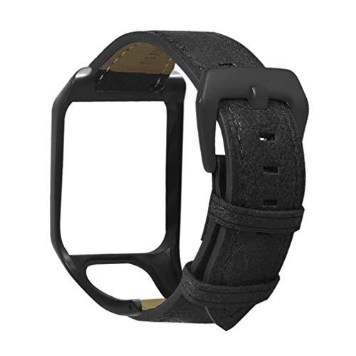 NICERIO kompatibel mit Tomtom Runner 3 & Tomtom Adventurer Armband - Leder ersatzarmband Armband Armband mit gehäuseschutz - GPS smart Watch Accessories