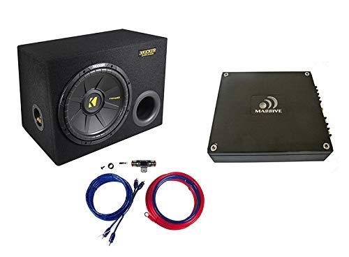 Kicker Massive Audio 600 Watt Basspaket Endstufe Subwoofer Kabelset 600 Watt