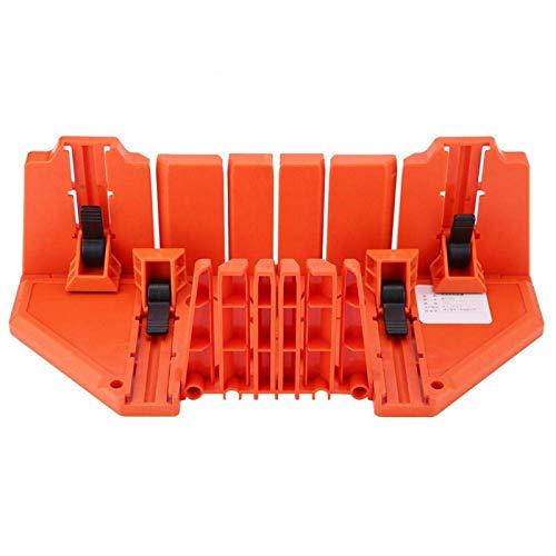 Caja de inglete de sierra, caja de inglete de plástico Sierra de podar Sierra de mano para cortar madera Herramienta de hardware de 14 pulgadas con abrazadera Naranja Plásticos de ingeniería de abs de