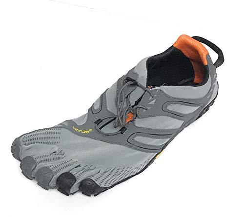 Vibram FiveFingers Herren V-Trail Traillaufschuhe, Grau (Grey/Black/Orange Grey/Black/Orange), 39 EU