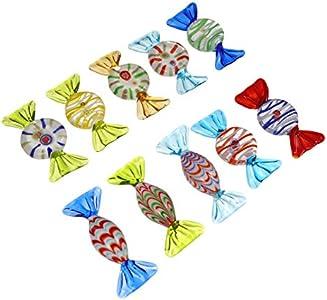 NUOBESTY 10 adornos de cristal de Murano, caramelos, dulces, bodas, cumpleaños, fiestas, regalos
