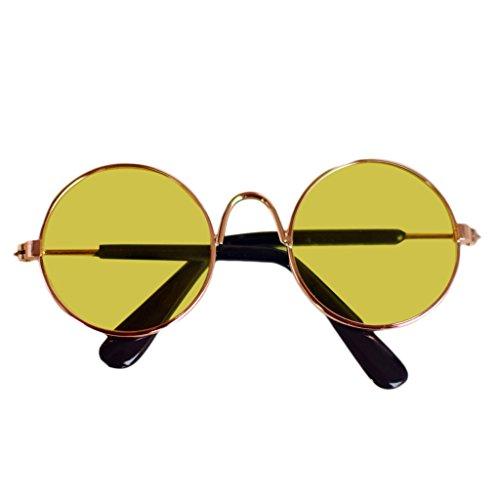 VVXXMO Bjd Doll Cool Gafas,Gafas de sol para mascotas,Accesorios de juguete para niñas,Suministros de accesorios de foto