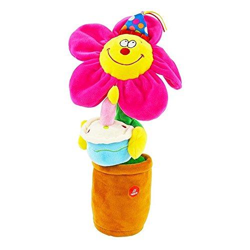Koegler Tanzende Blume singt Happy Birthday Tanzt Geburtstagsgeschenk Plüschblume inkl. Batterien