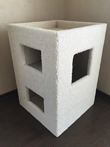 Lemio - Kratzbaum Cube Kratzrolle Kratztonne Katzenbaum in grau oder beige (beige)